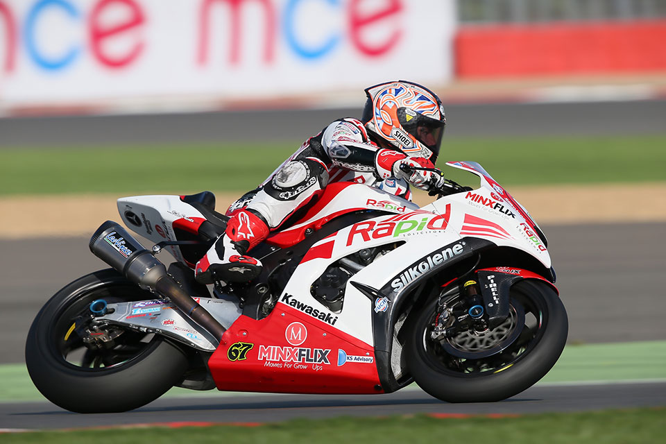 Shakey Byrne at the British Superbikes at Silverstone 2013